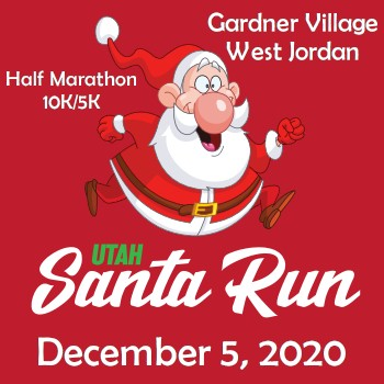 Santa Run Logo West Jordan